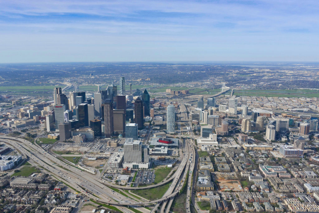 Downtown Dallas Over Deep Ellum