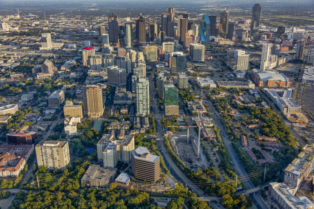Aerial Photographer Dallas - Aerial Photo - Aerial Downtown Dallas